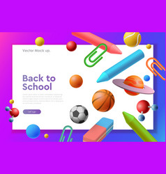 landing page web template of back to school vector image