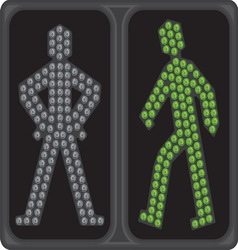 Led semafor zeleno ukljuceno resize vector image