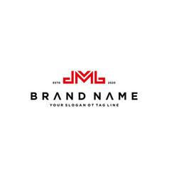 Letter dmb logo design concept vector