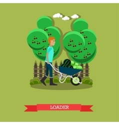 Loader in flat style vector