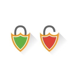 Lock icon in flat style vector image