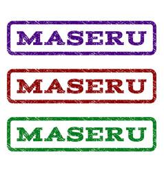maseru watermark stamp vector image