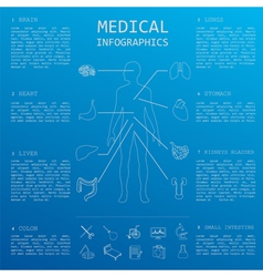 Medical and healthcare infographic elements for vector image