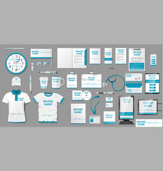 Medical center or pharmacy branding identity vector