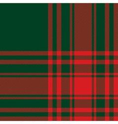Menzies tartan green red kilt fabric texture vector image