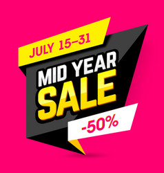 Mid year sale banner poster vector