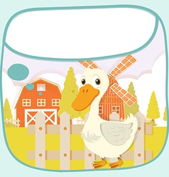 Paper design with duck on the farm vector image