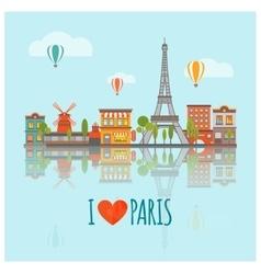 Paris Skyline Poster vector image