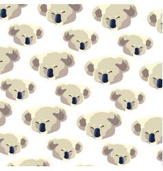 Pattern head koala on white background vector