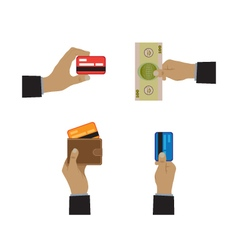 Payment methods icons vector image
