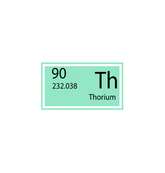 periodic table element thorium icon element of vector image