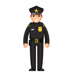 Policeman flat design character isolated vector