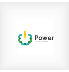 Power button logo design vector image vector image