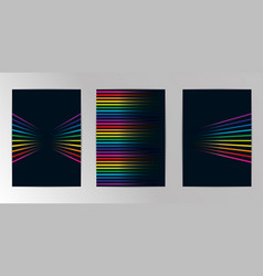 rainbow colored background abstract geometric set vector image