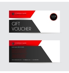 Red and black Gift voucher template vector