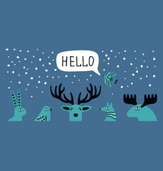 scandi winter banner vector image