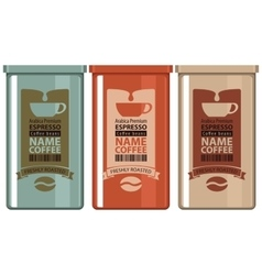 set labels coffee vector image