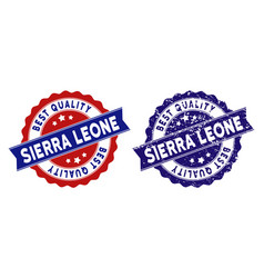 sierra leone best quality stamp with dust texture vector image