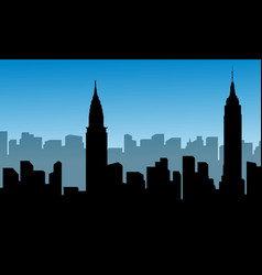 Silhouette of usa building landscape vector