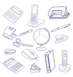Sketch of business processes vector