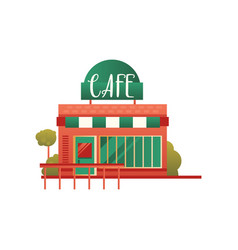 small street cafe city public building front vector image