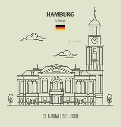 st michaelis church in hamburg vector image