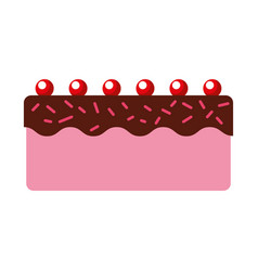 sweet and delicious cake vector image