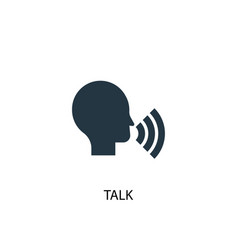 talk icon simple element talk vector image