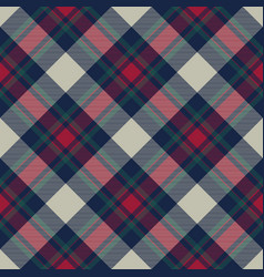 Tartan check plaid diagonal fabric texture vector