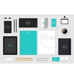 template mockup for brand presentation on vector image