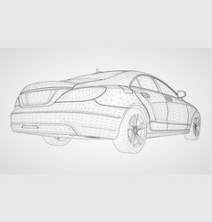 the model sports a premium sedan vector image