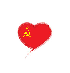 The red flag of the ussr on vector