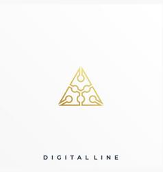 triangle design template vector image