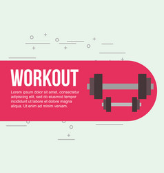 weight dumbbells fitness gym workout vector image