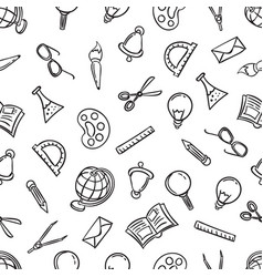 welcome back to school seamless pattern vector image