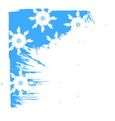 winter background with snowflakes for greeting vector image