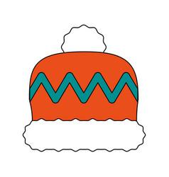 Winter woman hat vector