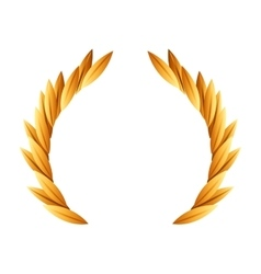 Wreath gold award icon vector
