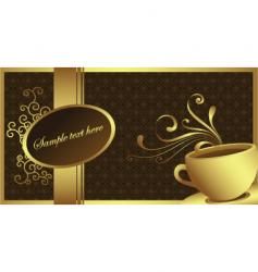 gold coffee vector image vector image