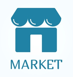 Icon or sign of marketplace in flat style vector image vector image