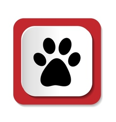 icons with the image of an animal paw vector image vector image