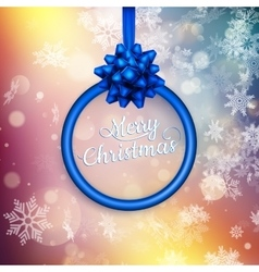 Merry Christmas and Happy New Year Card EPS 10 vector image