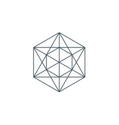 Metatrons cube vector