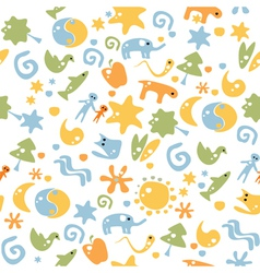 seamless cartoon background vector image vector image