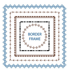 set border and scribble design element hand drawn vector image