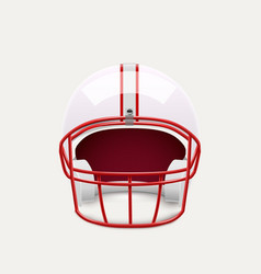 american football helmet realistic object front vector image vector image