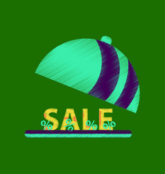 Flat shading style icon sale percent dish cover vector