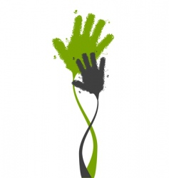 hands shape silhouette vector image vector image