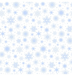 Seamless blue snowflakes vector image vector image
