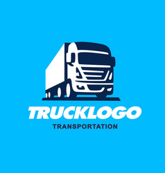 truck logo design vector image vector image